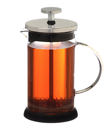 A filled french press