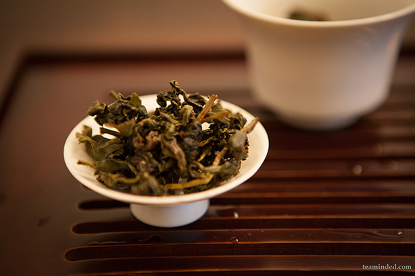 bowl of loose tea leaves