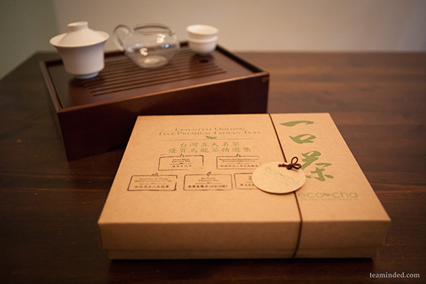 packaging of oolong tea selection from Eco Cha