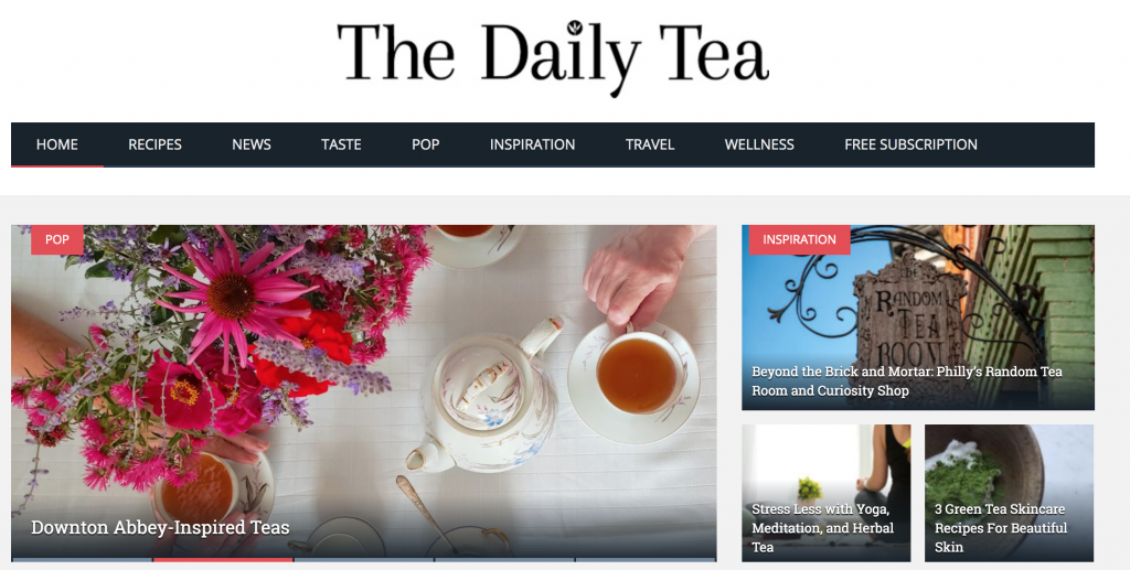 The Daily Tea website
