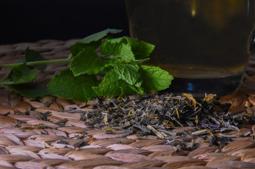 Loose tea leaves perfect for an iced tea